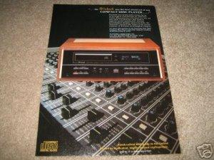 McIntosh CD Player Ad from 1985 MCD 7000,BEAUTIFUL!