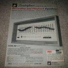 Soundcraftsmen RP2212 EQ Ad from 1974,Rare! Specs