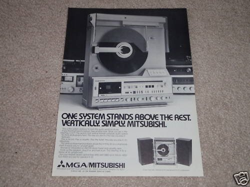Mitsubishi Vertical Turntable Ad,1979,X-10,like LT-5v