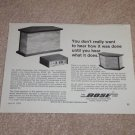 "Bose 901, 1st Ad! 1968, Article, 6""x9"" Very Rare!"