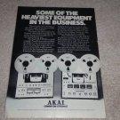 Akai Open Reel Ad, 1975, GX-650D, 630DSS, Article