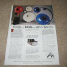 Audio Note Exotic Speaker Ad fr 1996,Avantgarde Trio