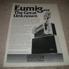 EUMIG Mark S-802 Super 8 Projector Ad from 1978
