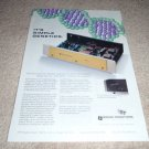 Sonic Frontiers SFD-1 TUBE D/A Converter Ad from 1994