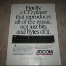 Adcom GCD 575 CD player Ad from 1992