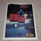ESS amt 1 Speaker Ad,Article, Color, Beautiful! Rare!