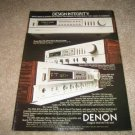 DENON Receiver Ad from 1983 DRA-700, DRA-400,300
