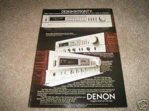 DENON Receiver Ad from 1983 DRA-700, DRA-400,300