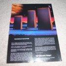 Cerwin Vega 2000 Series AD from 1985, WOW, Super RARE!