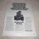 Epicure Speaker Ad from 1974, Entire Line!