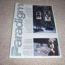 Paradigm MkII,3seMkII Speaker brochure from 1992,2 side