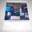 Cello Speaker, AMp, Pre Ad from 1996, RARE!