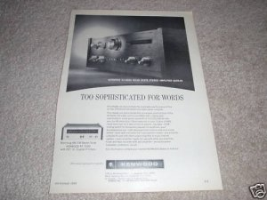 Kenwood KA-6000 Amplifier,KT 7000 Tuner Ad from 1968