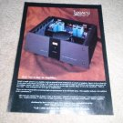 Legacy Class A Amplifier, Inside view! 1993 Ad, Nice!