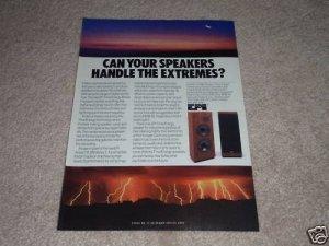 EPI T/E 280 II Speaker AD from 1986, color, Nice!