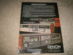 Denon DR-M3,4,2 High-End Cassette Deck Ad from 1983