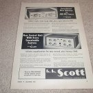 HH Scott 330 Tube Tuner,121-B Pre/EQ Ad from 1955,RARE!