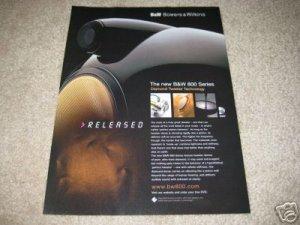 B&W 800 Series Ad from 2002, mint, Rare!