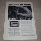 Fisher FM-90x Tube Tuner Ad,Article, 1958, Awesome!