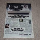 Kenwood KD-3100 Turntable Ad,1978,Article,cutaway,specs