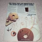 EPI Linear Sound 400 Speaker Ad,1973,Epicure, Article