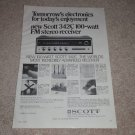 Scott Ad, 1969, 342c Receiver, Specs, Articles, 1 page