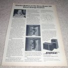 Bose 301 direct energy control article, 1 page 1976