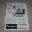 JansZen AR-1 Speaker Ad, 1956, Info, Article