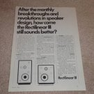 Rectilinear III lowboy Speaker Ad, 1972,Article,Rare