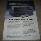 B&K Avp2000,EX4420 Amp, Pre Ad from 1994,High-End!