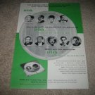 Irish Reel to Reel Tape Ad from 1959, Green and rare!