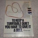 Harman Kardon T series Turntable Ad,1983,Article,Pic