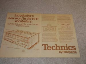 Technics Ad,1973, INTRODUCING Technics...Rare 1st Ad!