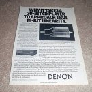 Denon CD Player Ad from 1988,DCD-3520