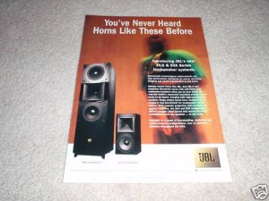 JBL SVA, HLS Series Ad from 1997 1 page, HORNS!