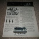 Pioneer Turntable PL-S70 1 page Ad,color