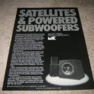 M&K Ad from 1990, Subwoofer and Satellite System