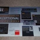 NAD AV-716 rec,917 Pre,513 CD Ad, 1995, 2 pgs, Article