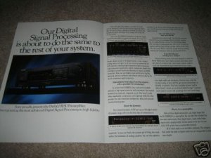 SONY ES 4 pg Ad from 1989,Ta-E1000,CD,Cass,Tuner