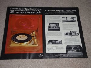 Empire 598 Turntable Ad, 1969, 2 pgs, color, Articles