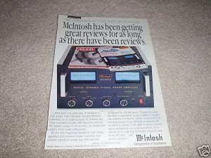 McIntosh MC2600 Power Amp Ad from 1992,Beautiful!