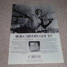 Carver M-400 Cube Amp Ad,Bob Dancing! Specs,Beautiful!