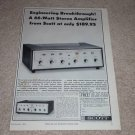 Scott 233,299d Amplifier Ad,1964, Specs, Article, Tube!