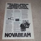 NovaBeam Model Two TV Ad,1982,Henry Kloss, RARE! info