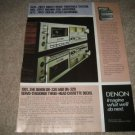Denon Dr-330,320 Cassette Deck Ad from 1981