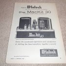 McIntosh MacKit 30,Tube Amp Ad from 1960,RARE, TUBES!