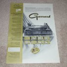 Garrard Super Changer Ad, RARE! 1 pg,Articles,1959,mint