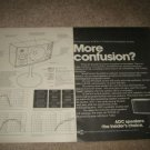 ADC WDDS-12 Speaker Ad, RARE! 2 pages, specs 1975