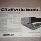 Harman Kardon Citation 12 Amp ad fr 1970,full specs!