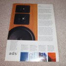 A/D/S Speaker Ad from 1990, Beautiful!